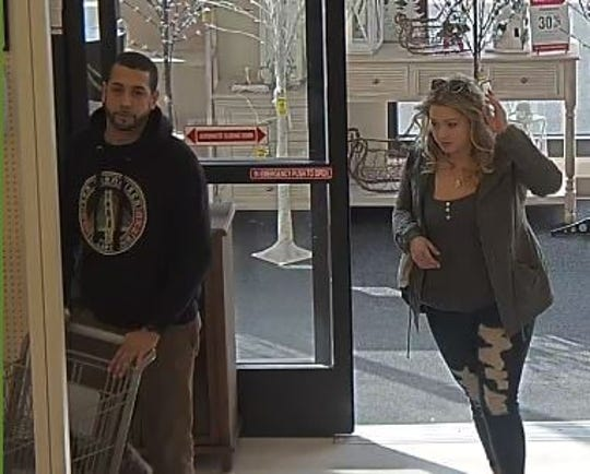 North Brunswick police are looking to identify these two people in connection with allegedly shoplifting from a local business.