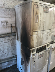 Damage shown inside the Eddy Building, 1120 Park Ave., after a fire began Dec. 11, 2019 in the first-floor laundry room, according to Des Moines fire officials. No one was injured in Wednesday's fire, thanks in part, to sprinkler installed after the last blaze at the century-old building. The cause of the fire is still under investigation.