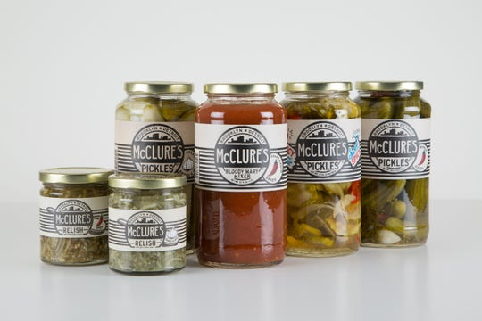 McClure's pickles, relish and bloody Mary mix.
