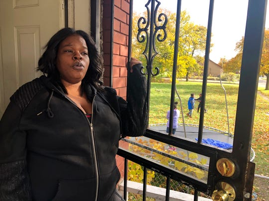 "Annette Brock, who plans to be counted in the 2020 census, talks in Detroit on Nov. 5. ""I don't blame nobody if they don't want to participate, or if they don't want to help, or if they don't want to say nothing no more,"" Brock said. ""They're tired of speaking their mind."""