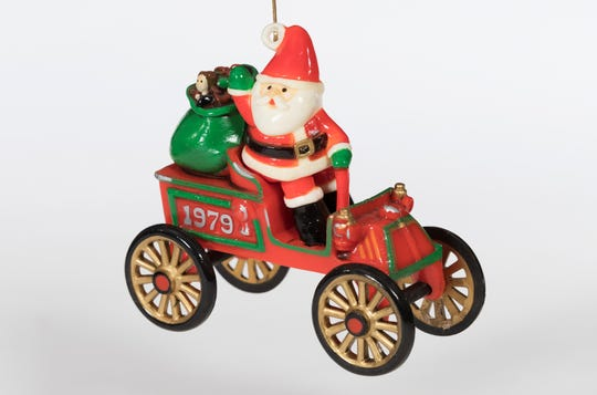 Santa in his sleigh will be on display at The Henry Ford. It is part of the Hallmark Keepsake Collection.