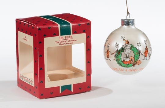 The Hallmark Keepsake Collection's Dr. Seuss: The Grinch's Christmas Glass Ornament will be on display at The Henry Ford.