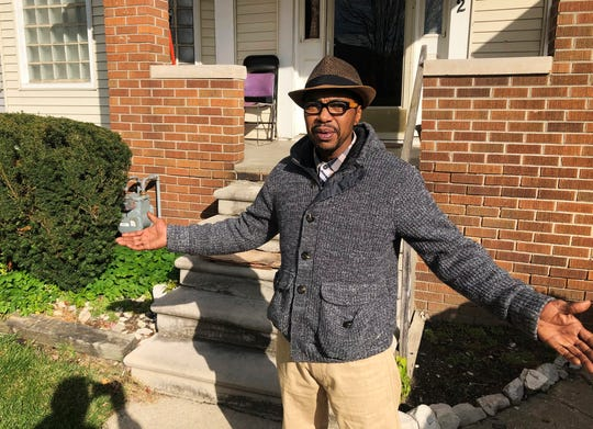 "Charles Jones Jr. stands outside his house in Detroit on Nov. 5.  He says he will participate in the census and hopes his neighbors make sure they are counted. ""You just can't walk and knock on somebody's door, now,"" said Jones Jr. ""You've got to find somebody in the neighborhood that the people trust. Not strangers. They're scared of strangers."""