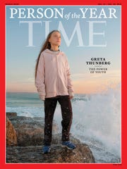"Greta Thunberg, who has been named Time's youngest ""person of the year"" on Wednesday."