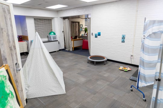 An example of a self-regulation room at an EVSC elementary school.