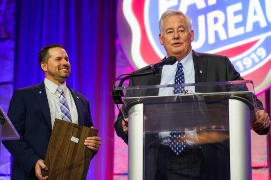 Long-time Nationwide leader Steve Rasmussen received the Ezra C. Anstaett Heritage Award.