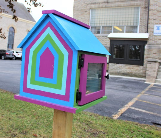 Immaculate Conception School has a Free Little Library outside its doors for books and before the holidays, stocking stuffers.