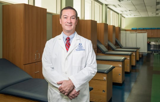 Founding program director Robert Hawkes oversees the physician assistant program at Florida Gulf Coast University's Marieb College of Health & Human Services.