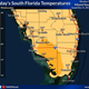 Temperature forecast for southern Florida on Wednesday, December 11, 2019.