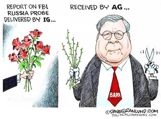 Barr prunes report on Russia probe.