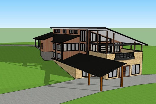 A preliminary drawing of a planned new Environmental Education Center at Bruemmer Park Zoo in Kewaunee.