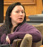 Chasity Denny is seen during a break in her trial in Oconto County Circuit Court on Dec. 9.