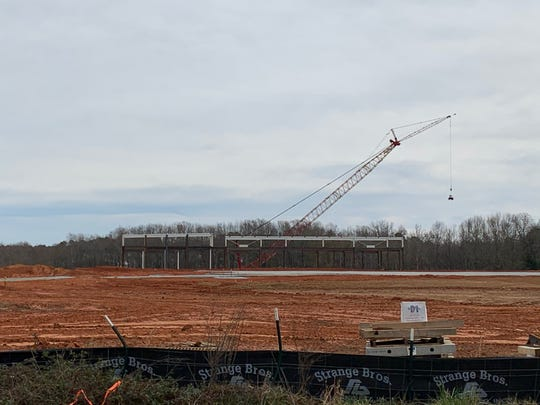 The site of the under-construction Fountain Inn High School on Quillen Avenue in Foutain Inn is pictured on Wednesday, Dec. 11, 2019. The school is planned to open in August 2021.
