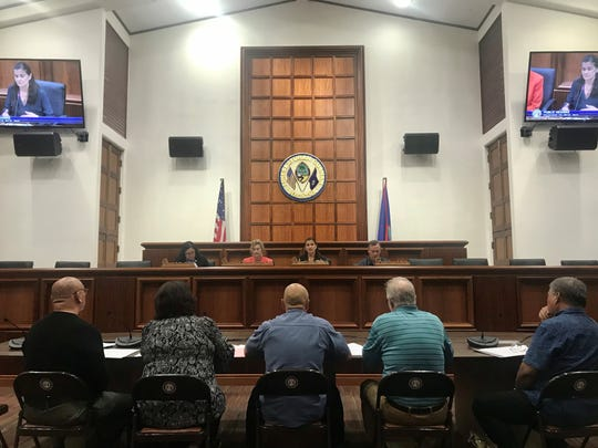 A public hearing chaired by Sen. Therese Terlaje was held Tuesday, Dec. 11, to discuss updates regarding a new Marianas Island Training and Testing Programmatic Agreement.