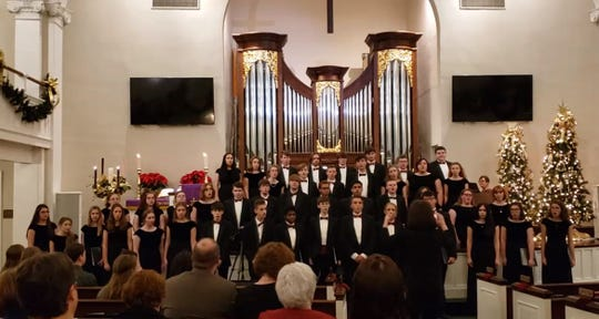 The Henderson County High School Choir performed at the annual Alice P. Taylor candlelight service (Dec. 8, 2019).