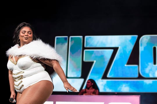 Lizzo at the Bankers Life Fieldhouse, Indianapolis, Tuesday, Dec. 10, 2019.