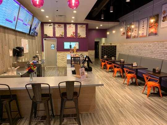 Vitality Bowls Superfoods Cafe in Madison has an interior with upbeat vibe.