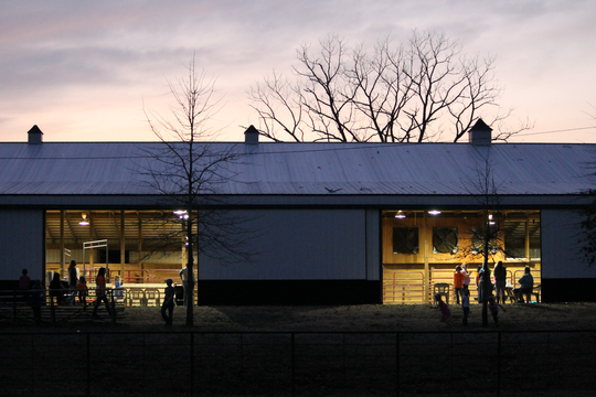 Facilities at Rein-Bow Riding Academy include an indoor arena to ride in a more controlled environment for those who need it.