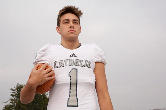 Central Catholic's Evan Munn is the 2019 Journal & Courier Small School Defensive Football Player of the Year.