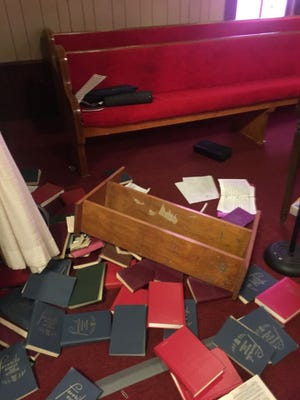 Needham Cumberland Presbyterian Church in Eastview, Kentucky, was one of two churches in the Hardin county town vandalized.