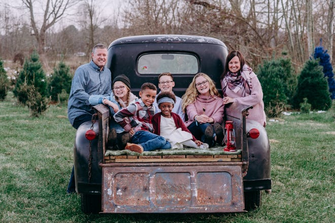 Josh and Nicole Blakley are the parents of Addison, Jameson, Griffin, Isabella and Hannah. The Bellville couple decided to adopt after having three children of their own.