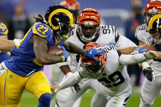 Darrell Henderson and the Los Angeles Rams will play the Buffalo Bills on Sept, 27.