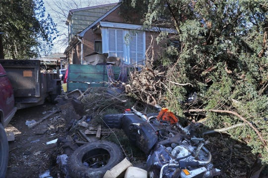 This cluttered house at 5511 N. 53rd St. in Milwaukee is being cleaned out and razed this week on an order by the City of Milwaukee. The owners are Ilona and Roger Stank, who fought in court to save the house.