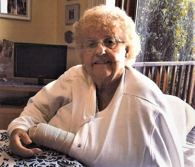 Mary Wobschall fell and broke her wrist trying to walk without her cane at a Division of Motor Vehicles office in West Bend. A lawsuit says  the DMV violated the Americans with Disabilities Act when its examiner told Wobschall she couldn't renew her driver's license without the walking test.