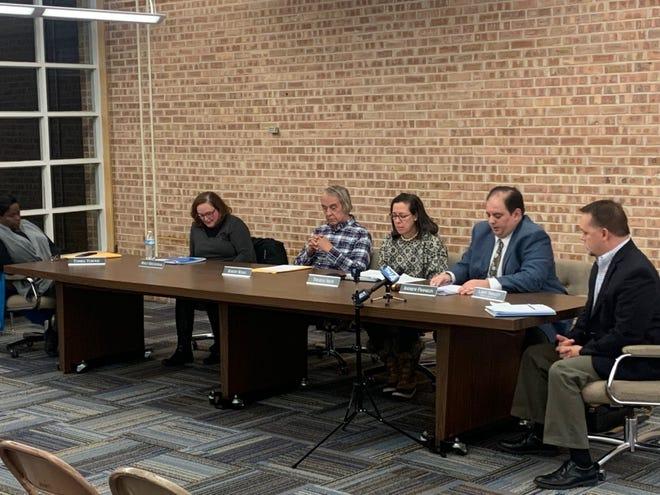 Glendale-River Hills School Board president Andrew Franklin speaks at the board's Dec. 10 meeting.