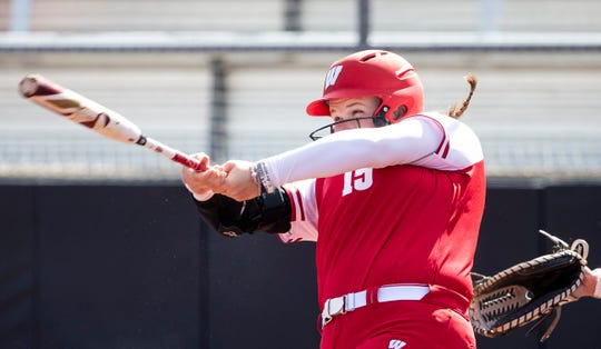 Wisconsin's Kayla Konwent was named Big Ten Player of the Year in softball and led Wisconsin to two thrilling NCAA Tournament wins.