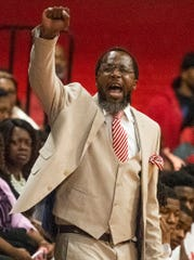 Lee coach Bryant Johnson against Carver at the Lee campus in Montgomery, Ala., on Tuesday evening December 10, 2019.