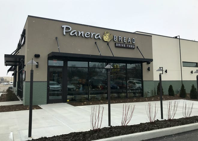 Panera's new location on McGalliard Road is now open, offering customers the option of a drive-thru.