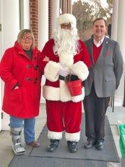 Vice mayor Debbi Rainey, Santa, and Mayor John Blade were on hand for the 2019 Fairview Christmas Tree Lighting on Dec. 7, 2019.