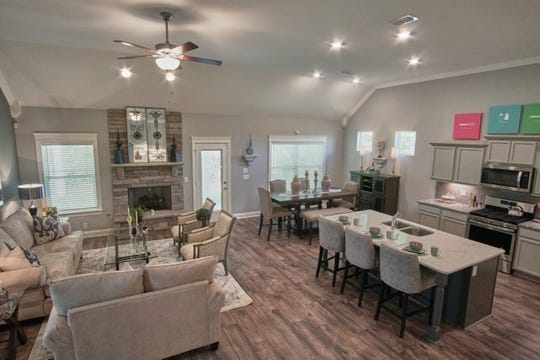 This Shelton Square home by Ole South has an open floor plan. Kitchen appliances come with every home.
