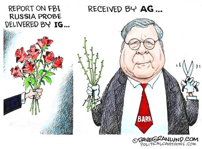 Barr prunes IG's report.