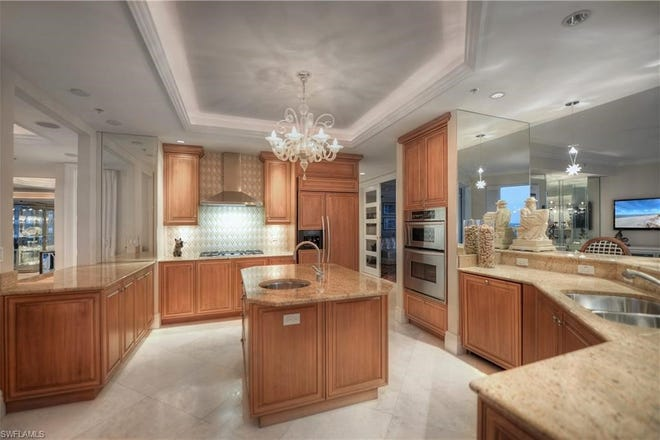"""A """"before"""" view of the kitchen in Diamond Custom Homes' ninth floor condominium remodeling project in Aria at Park Shore."""
