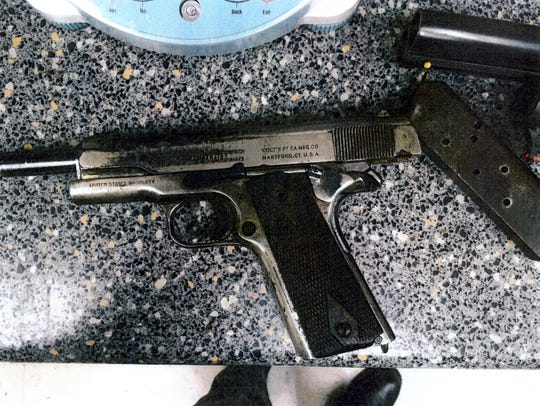 A gun seized by law enforcement from a person who was the subject of a red flag law in Florida.