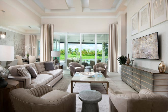 Salvatore Giso, IDS has completed the interior design for Stock Signature Homes' 2,947 square foot Madison model in Parrot Cay at Naples Reserve.