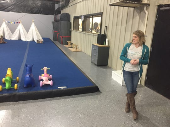 Amber Pierson in the rear gym area shared with Cheer Force One. She said special events and classes in art, music, theater and more will launch after the first of the year.
