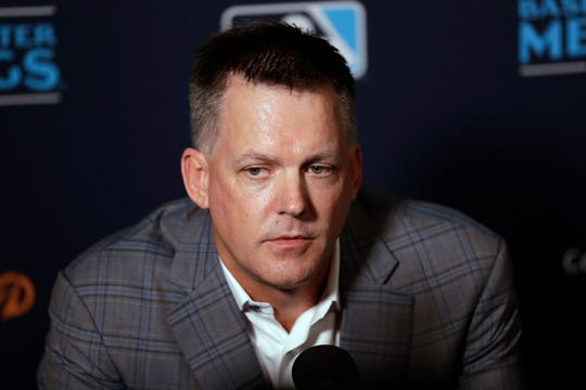 Houston Astros manager A.J. Hinch speaks during the Major League Baseball winter meetings, Tuesday, Dec. 10, 2019, in San Diego.