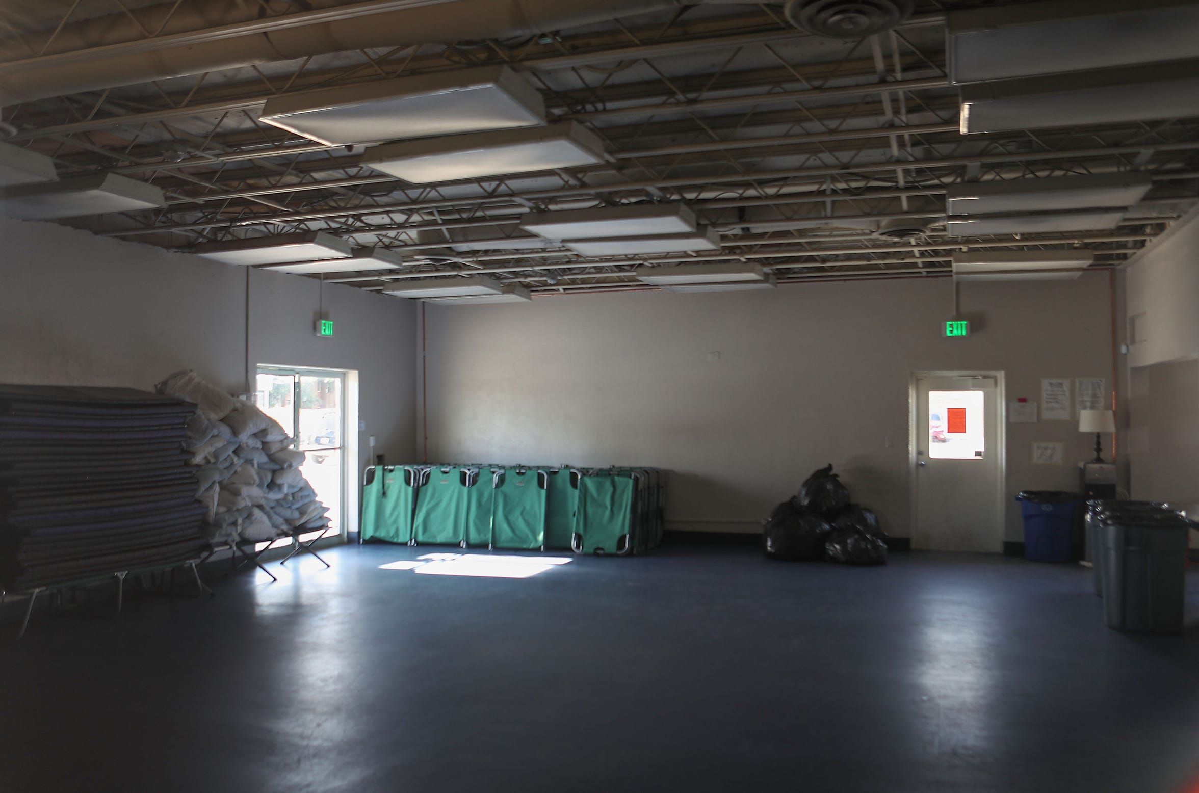 The former Palm Springs Boxing Club has been converted to an overnight shelter for the homeless, December 11, 2019.