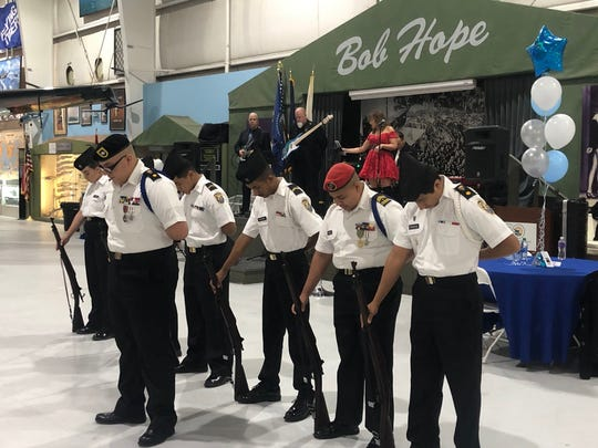 Cadets from Indio share a moment of silence to commemorate the attack on Pearl Harbor.