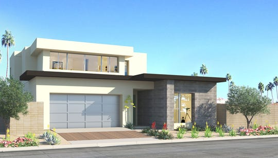 A rendering of a Flair home from Woodbridge Pacific Group in the Miralon development.