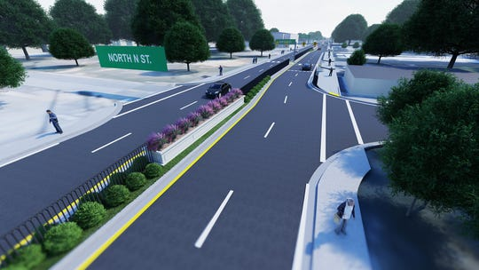 A rendering from Florida Department of Transportation shows what West Cervantes will look like once the pedestrian safety improvement project is complete.