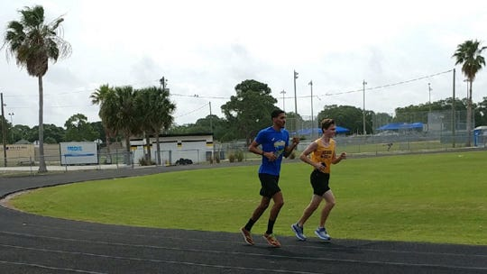 Mohammed Haitham and and fellow trackmate Tobias Ryckis, 18, became friends after Haitham stood up to bullies at Lakewood High School during Ryckis' freshman year. Before Haitham was killed in a shooting at a Pensacola naval base on Friday, the two planned to get together. Ryckis now lives in Panama City, a few hours from Pensacola. [courtesy photo]