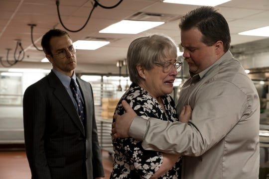 "Sam Rockwell, Kathy Bates and Paul Walter Hauser star in ""Richard Jewell."""