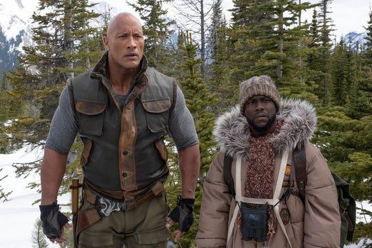 "Dwayne Johnson and Kevin Hart in ""Jumanji: The Next Level."""