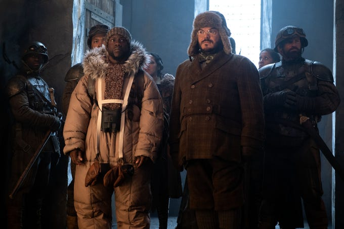 """Kevin Hart and Jack Black star in """"Jumanji: The Next Level."""""""