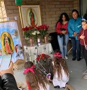 Phoenix migrants paying tribute to La Virgen de Guadalupe