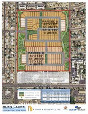 Initial plan for new neighborhood in the place of Glen Lakes Golf Course in Glendale.